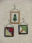 Christmas Quilt Block Ornament
