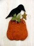Crow Time Pumpkin Wall Hanging