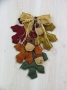Fall Leaves w/Acorns Wall Hanging