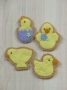Frosted Chick & Duck Cookies