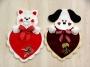 Kitten or Puppy Valentine Heart