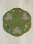 Meadow Bunnies Candle Mat