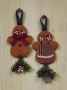 Ornament Danglers: Gingerbread Boy and Girl