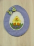 Panorama Egg Wall Hanging with Duck