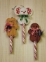 Peppermint Stick Ornaments - Mouse, Bear & Gingerbread
