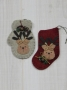 Woolen Mitten and Stocking Ornament: Reindeer