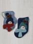 Woolen Mitten and Stocking Ornament: Snowman