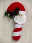 Candy Cane Santa Wall Hanging