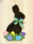 Chocolate Bunny w/Eggs Wall Hanging