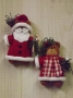 Deck The Halls - Santa & Mrs. Bear Orn.
