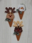 Frozen Treat Ornaments Single Dip Reindeer and Snowman Cones