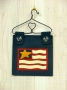 Mini Hanger - Primitive Old Glory