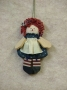 Mini Rag Doll Ornament-Girl