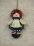 Mini Rag Doll Ornament-Girl
