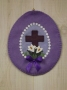 Panorama Egg with Cross Wall hanging