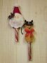 Peppermint Stick Ornaments III - Santa & Reindeer