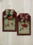 Pine and Cardinal Tag Wall Hanging