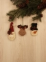 Santa, Moose, & Snowman Ornament