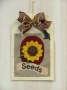 Sunflower Tag Wall Hanging