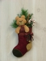 Teddy Bear Stocking Wall Hanging