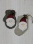 Woolen Mitten and Stocking Ornament : Santa