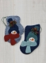Woolen Mitten and Stocking Ornament: Snowman